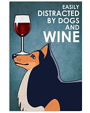 Dog Shetland Sheepdog And Wine 16x24 Poster front