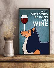 Dog Shetland Sheepdog And Wine 16x24 Poster lifestyle-poster-3