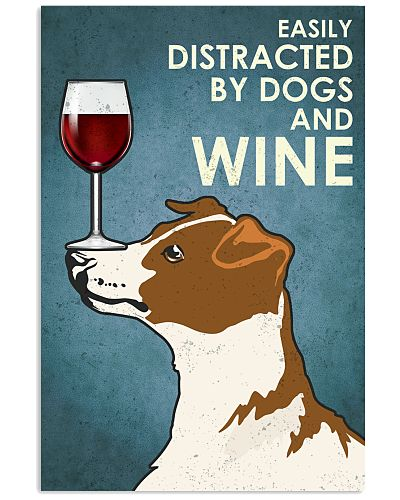 Dog Jack Russell Terrier And Wine