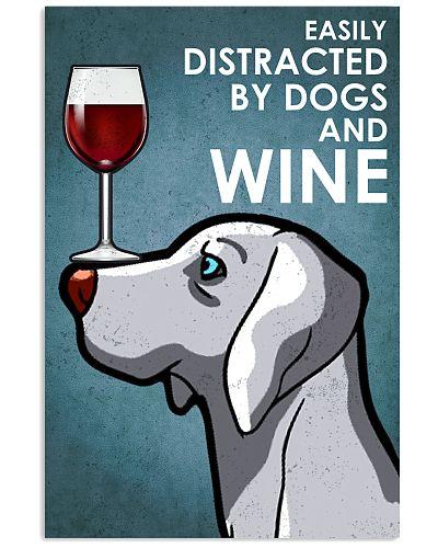 Dog Weimaraner And Wine