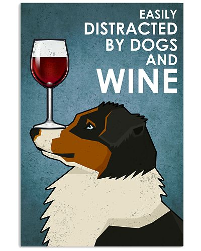 Dog Australian Shepherd  And Wine 2