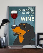 Dog Dachshund And Wine 16x24 Poster lifestyle-poster-2