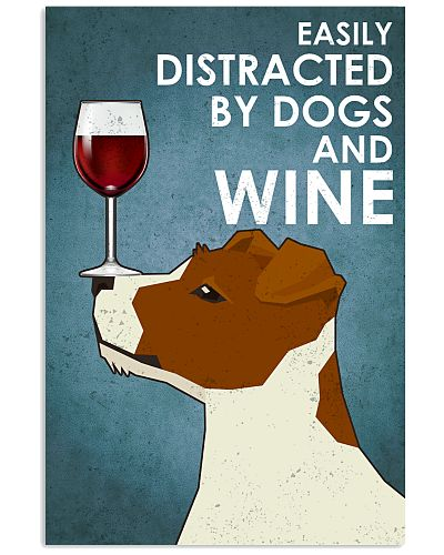 Dogs Jack Russell And Wine