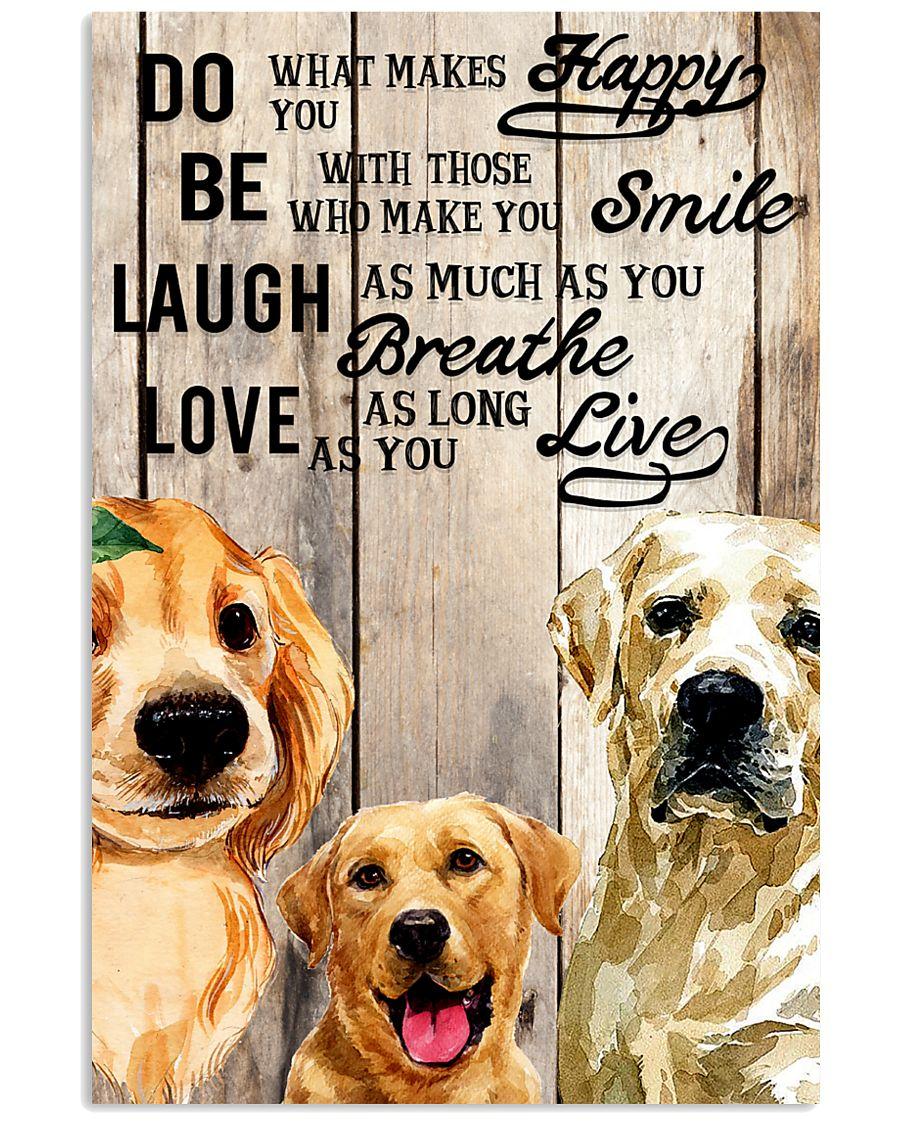 Dog Labrador Laugh Love Live 16x24 Poster