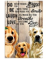 Dog Labrador Laugh Love Live 16x24 Poster front