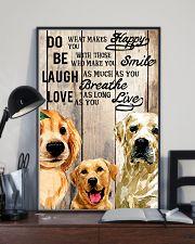 Dog Labrador Laugh Love Live 16x24 Poster lifestyle-poster-2