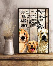 Dog Labrador Laugh Love Live 16x24 Poster lifestyle-poster-3
