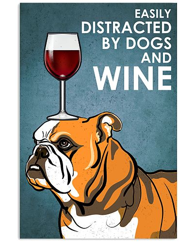 Dog BullDog And Wine