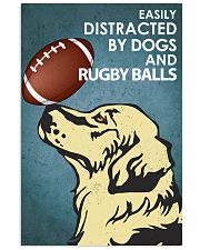 Dog Golden And Rugby Balls 16x24 Poster front