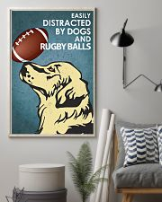 Dog Golden And Rugby Balls 16x24 Poster lifestyle-poster-1