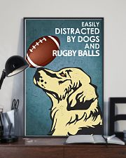 Dog Golden And Rugby Balls 16x24 Poster lifestyle-poster-2