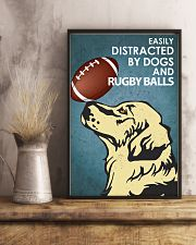 Dog Golden And Rugby Balls 16x24 Poster lifestyle-poster-3