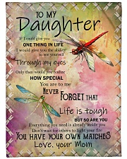 """Family To My Daughter Large Fleece Blanket - 60"""" x 80"""" front"""