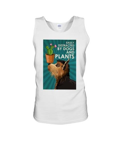 Dog And Plants
