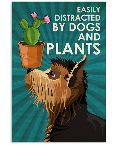 Dog And Plants