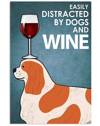 Dog Cavalier And Wine