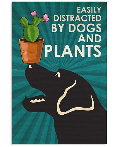 Dog Labrador And Plants