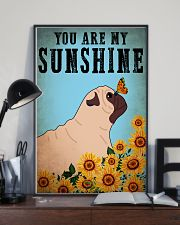 Dog Pug You Are My Sunshine 16x24 Poster lifestyle-poster-2