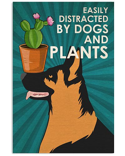 Dog K9 And Plants