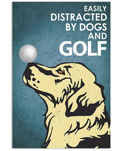 Dog Golden And Golf