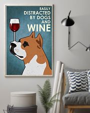 Dog Staffordshire Bull Terrier And Wine 16x24 Poster lifestyle-poster-1
