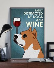 Dog Staffordshire Bull Terrier And Wine 16x24 Poster lifestyle-poster-2