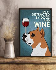 Dog Staffordshire Bull Terrier And Wine 16x24 Poster lifestyle-poster-3