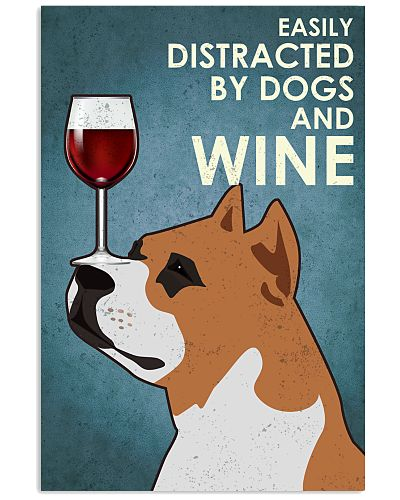 Dog Staffordshire Bull Terrier And Wine
