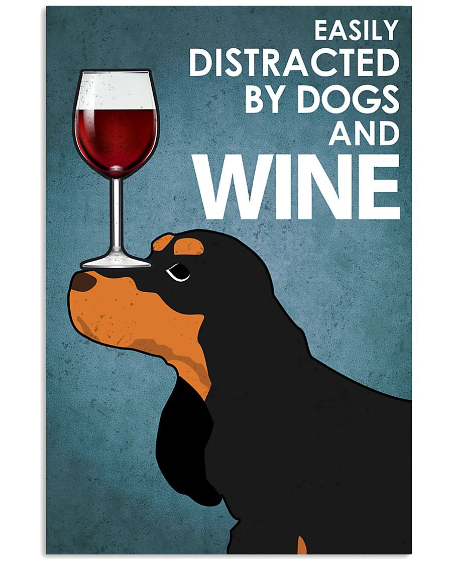 Dog Cocker Spaniel And Wine 16x24 Poster