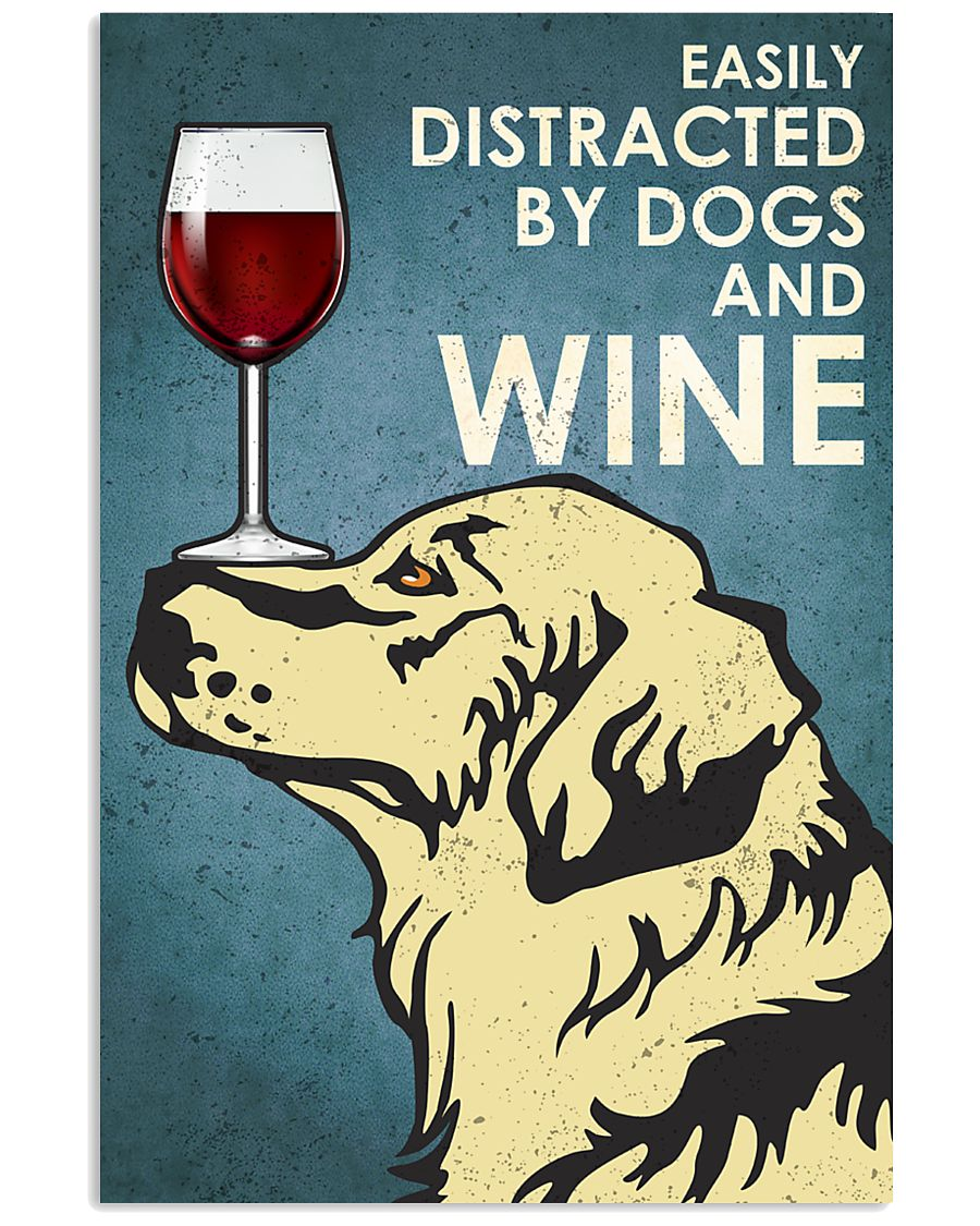 Dogs And Wine 16x24 Poster