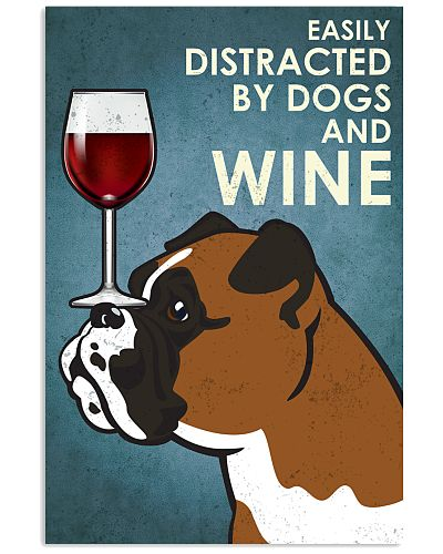 Dog Boxer And Wine