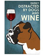 Dog Boxer And Wine 16x24 Poster front