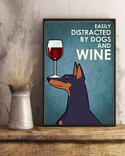 Dog Doberman And Wine 16x24 Poster lifestyle-poster-3