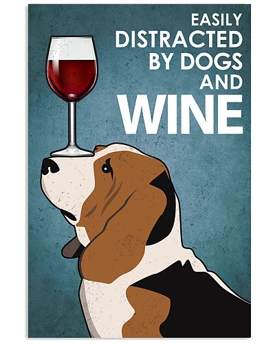 Dog Basset Hound And Wine