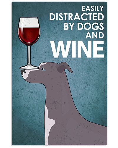 Dog Whippet And Wine