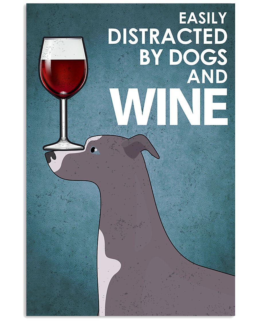 Dog Whippet And Wine 16x24 Poster
