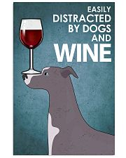 Dog Whippet And Wine 16x24 Poster front