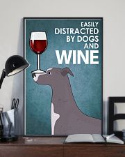 Dog Whippet And Wine 16x24 Poster lifestyle-poster-2