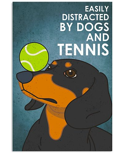 Dog Dachshund And Tennis