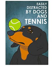 Dog Dachshund And Tennis 16x24 Poster front