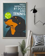 Dog Dachshund And Tennis 16x24 Poster lifestyle-poster-1