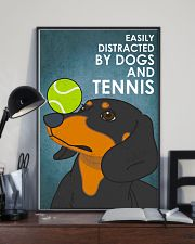 Dog Dachshund And Tennis 16x24 Poster lifestyle-poster-2