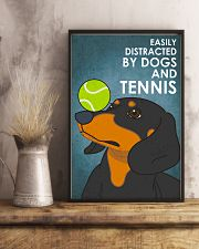 Dog Dachshund And Tennis 16x24 Poster lifestyle-poster-3