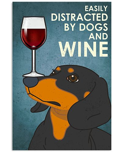 Dog Dachshund And Wine