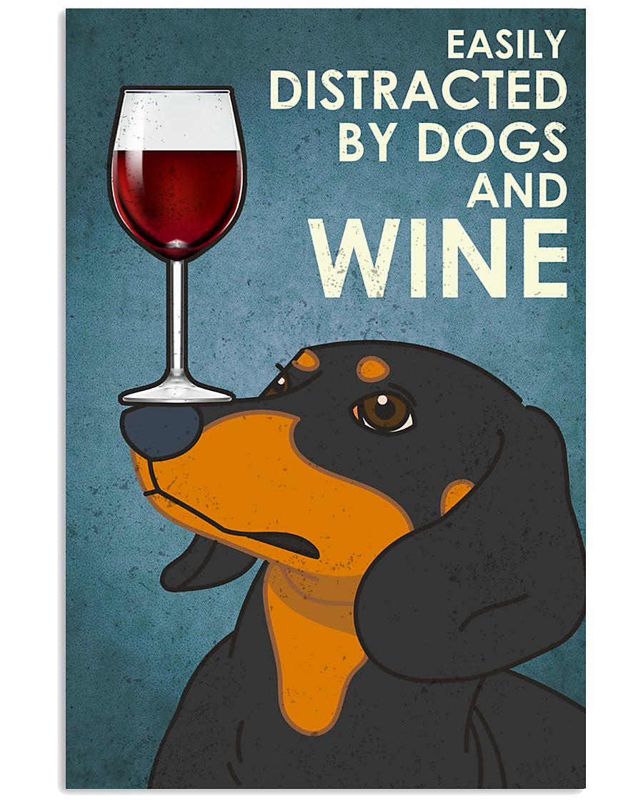 Dog Dachshund And Wine 16x24 Poster