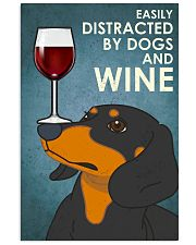 Dog Dachshund And Wine 16x24 Poster front