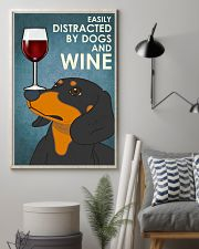 Dog Dachshund And Wine 16x24 Poster lifestyle-poster-1