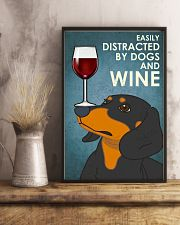 Dog Dachshund And Wine 16x24 Poster lifestyle-poster-3
