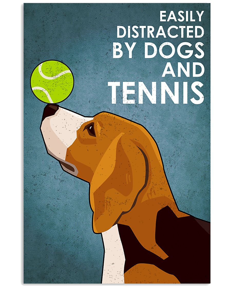 Dog Beagle And Tennis 16x24 Poster