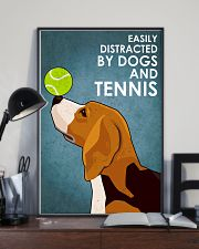 Dog Beagle And Tennis 16x24 Poster lifestyle-poster-2